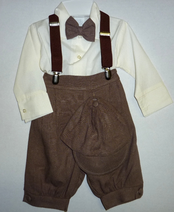Baby and Infant Solid Brown Knicker Suit