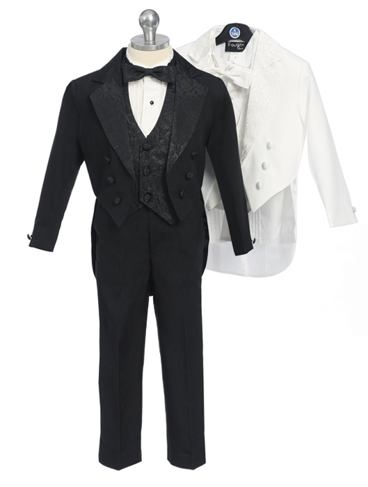 Baby and Infant Tuxedo with Paisley Design