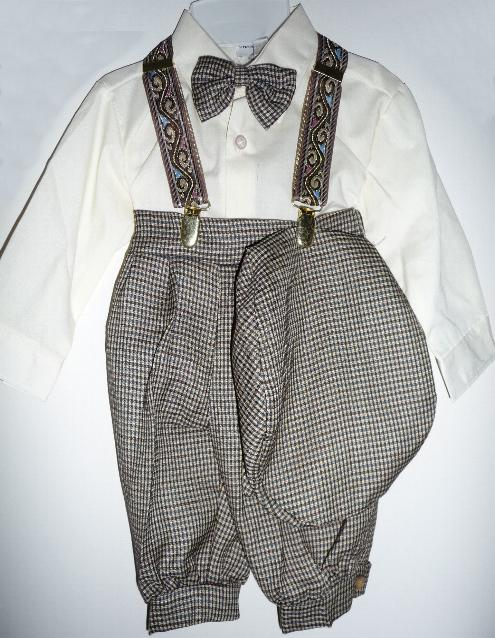 Toddler Boy Brown Knicker Suit