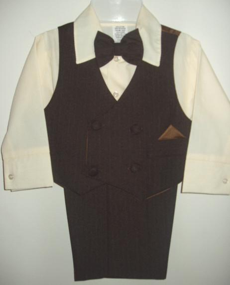 Baby Boy Brown Vest Suit