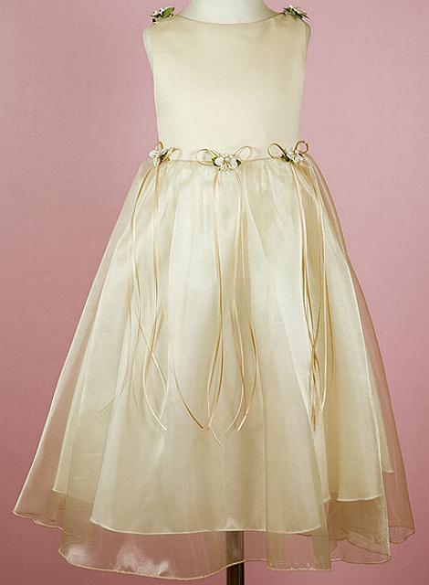 Girls Champagne Dress