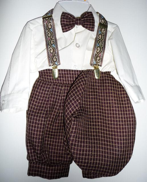 Toddler Boy Dark Brown Knicker Suit