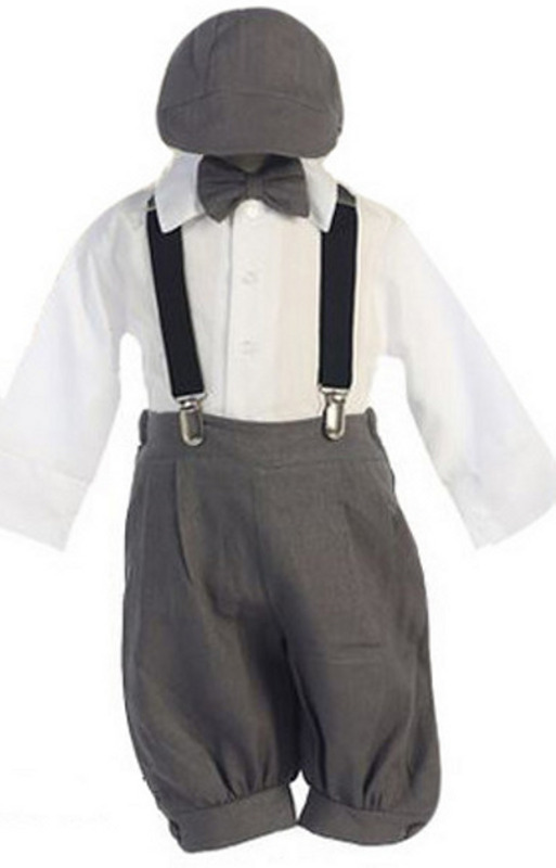 Baby and Infant Dark Grey Knicker Suit