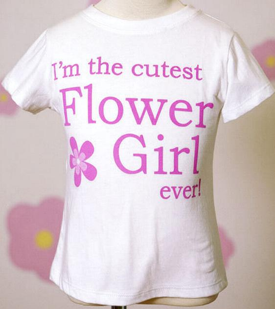 Cutest Flower Girl Shirt