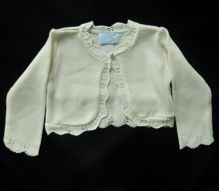 Girls Ivory Bolero Sweater