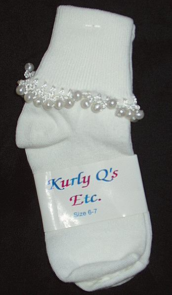 Girls Pear Beaded Socks