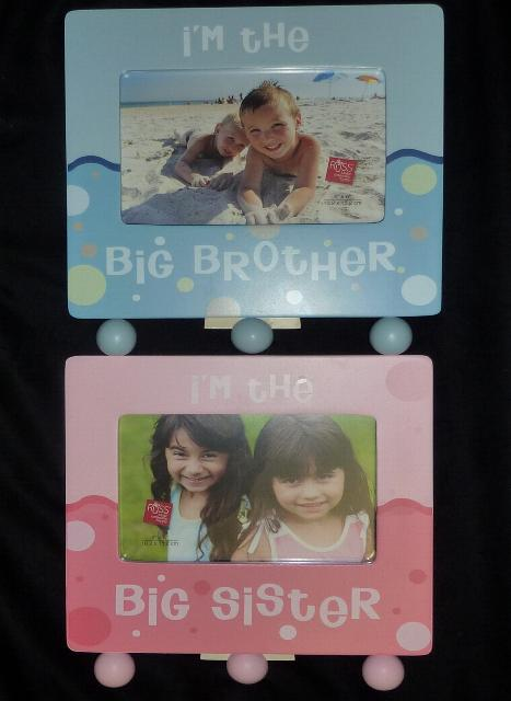 Big Brother Big Sister Wooden Frames