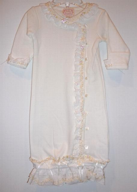 Ivory Biscotti Baby Gown