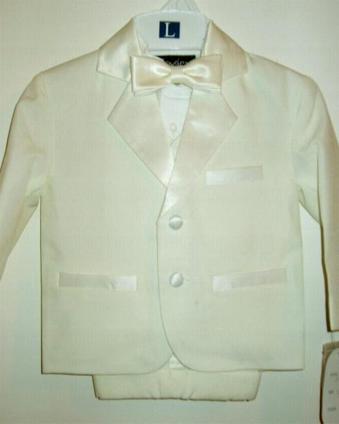 Baby and Infant Ivory Tuxedo with Shorts