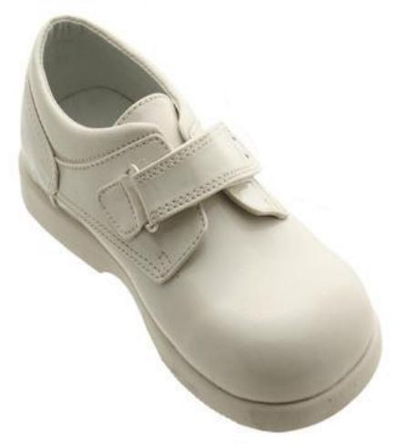 Boys Ivory Velcro Dress Shoes