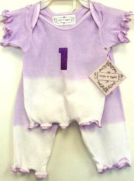 Lavender First Birthday Outfit