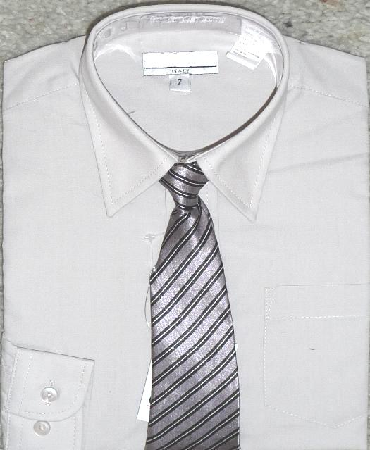 Boys Light Gray Dress Shirt