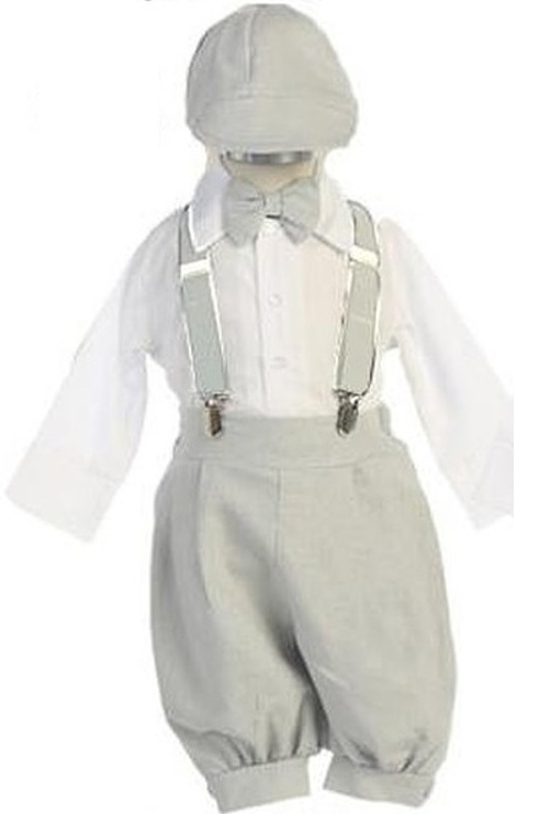 Baby Infant Light Grey Knicker Suit