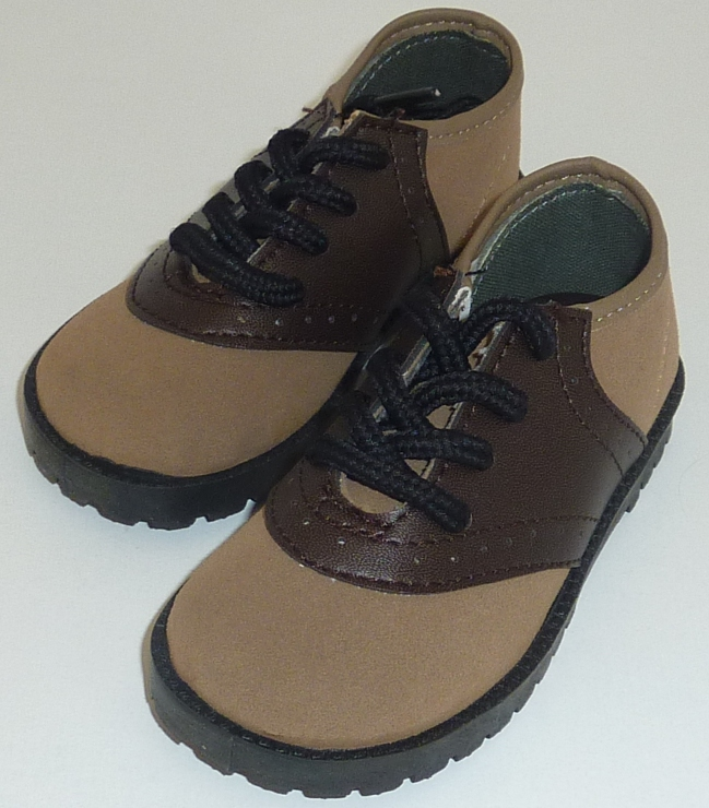 Little Boys Brown Saddle Shoes
