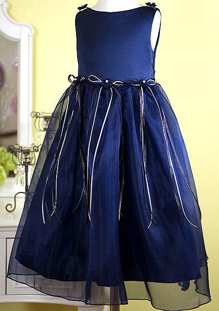 Girls Navy Blue Dress