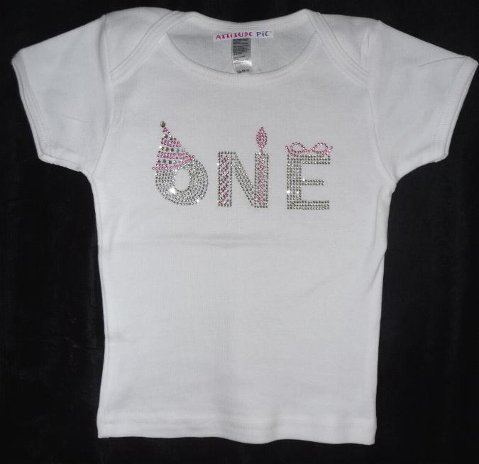Girls One First Birthday Shirt