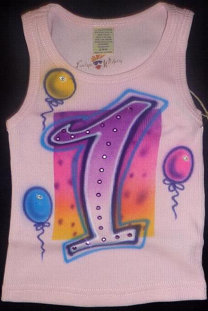 Pink First Birthday Tank Top