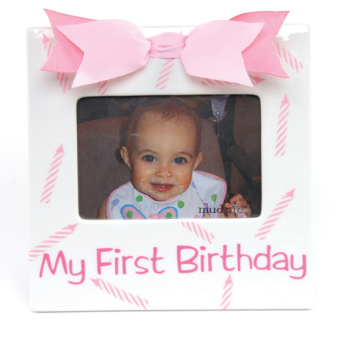 Girls My First Birthday Frame