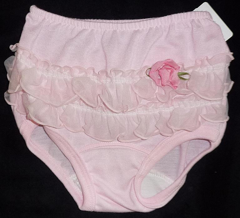 Pink Flower Diaper Cover