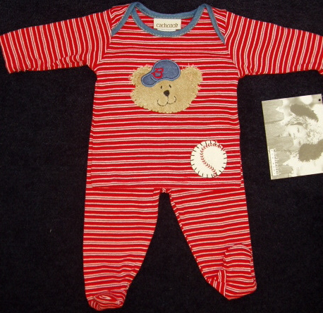 Two Piece Baby Baseball Outfit