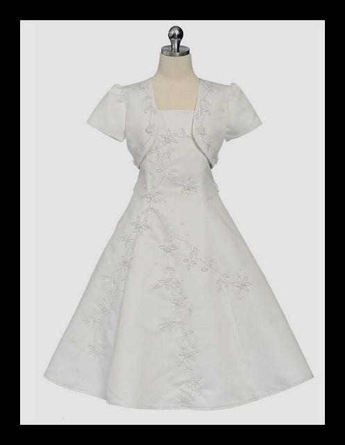 White First Communion Dress