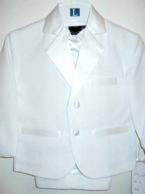 Baby and Infant White Tuxedo with Shorts