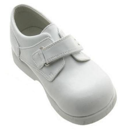 Boys White Velcro Dress Shoes