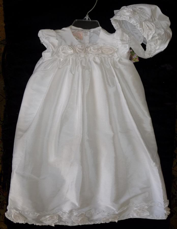 White Silk Baby Gown